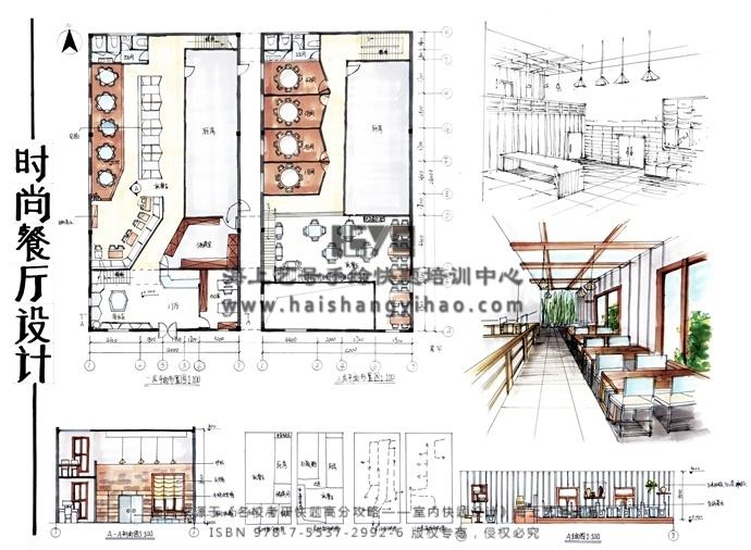 表现方面:效果图两点透视角度选取合适,空间关系表达明确,把材质