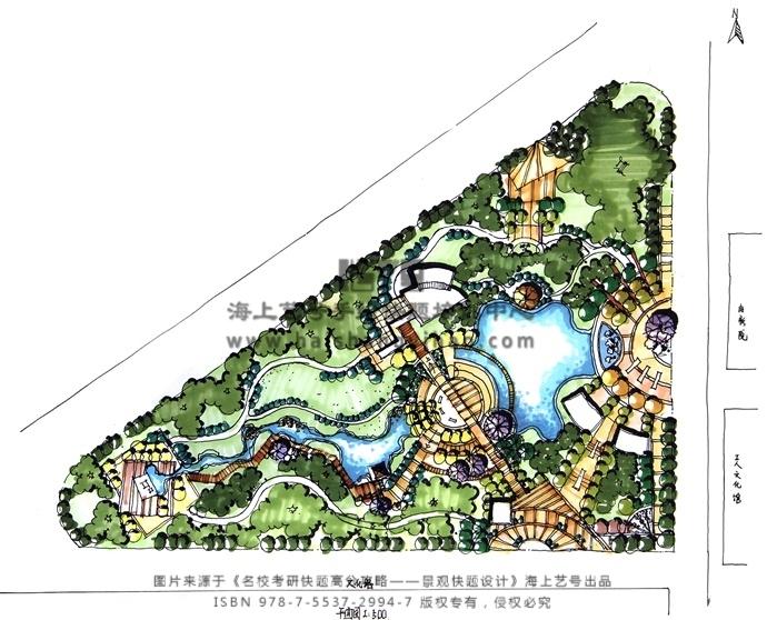 景观考研快题案例分析——街头绿地公园设计 - 快题与图片