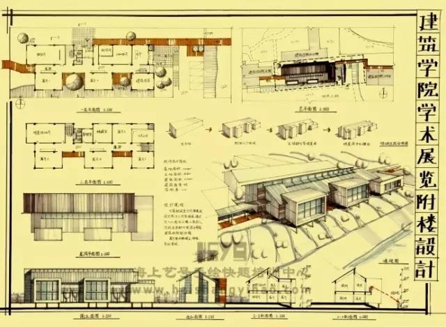 【考研学院】建筑学术专题设计附楼展览(华南理工大学的切图ui设计软件好用图片